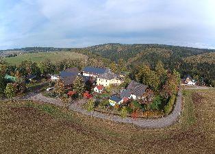 Luftbildaufnahme vom Einsiedler Hof